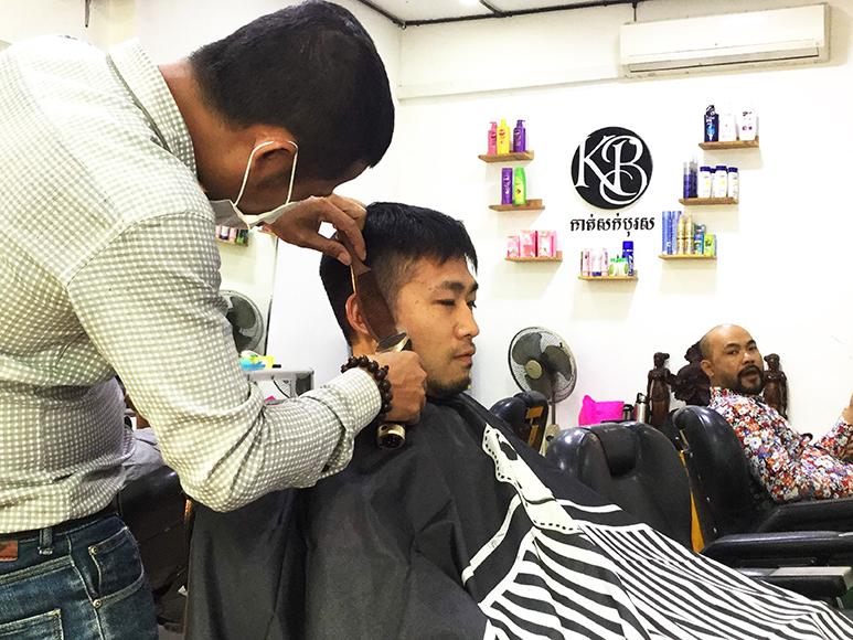 KB Barber Shop カンボジアで散髪!